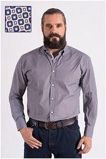 Bedrukt overhemd lange mouw van Plus Man
