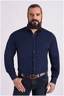 Uni lange mouw overhemd Plus Man