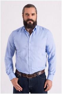 Uni oxford overhemd lange mouw van Plus Man