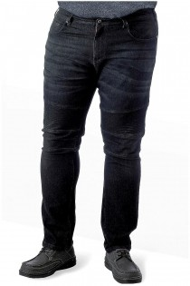 Elastische 5-pocket black jeans van D555