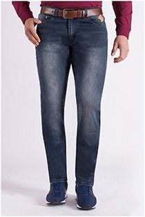 Extra lange 5-pocket stretch-jeansbroek van KAM Jeanswear.