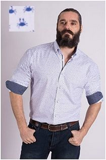 Lange mouw bedrukt overhemd van Plus Man
