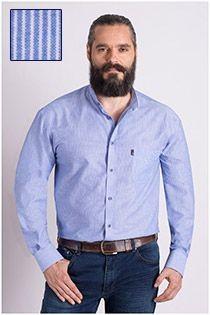 Gestreept lange mouw casual overhemd Plus Man