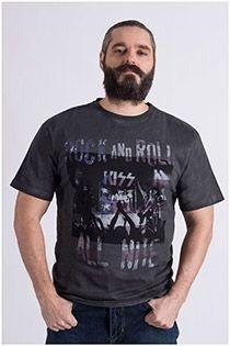 Korte mouw 'rock and roll' t-shirt van Replika