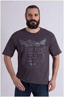 Korte mouw t-shirt met borstprint van Kitaro