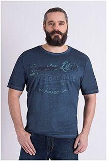 T-shirt met borstprint van Kitaro