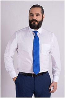 Strijkvrij effen EXTRA LANG dress overhemd Casamoda
