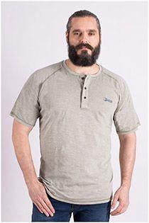 Redfield t-shirt met serafino-kraag
