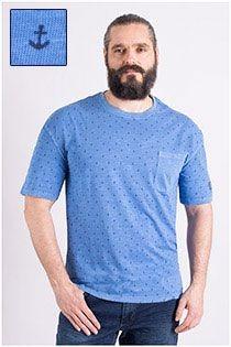 Korte mouw t-shirt allover print van Redfield