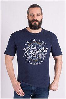 Korte mouw katoenen t-shirt van Redfield