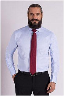 Effen dress overhemd van Plus Man EXTRA LANG