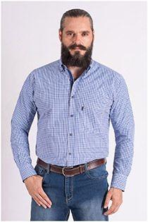 Extra lang ruiten overhemd van Plus Man