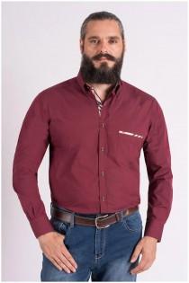 Effen lange mouw overhemd van Plus Man EXTRA LANG