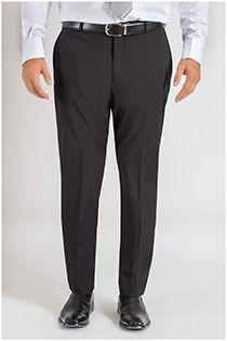 Elastische viscose business pantalon van Plus Man
