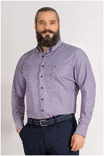 Lange mouw gestreept overhemd van Casamoda