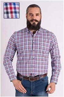 Ruiten lange mouw overhemd van Casamoda