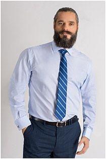 Easy care dress overhemd van Plus Man
