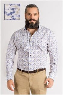 Plus Man lange mouw overhemd