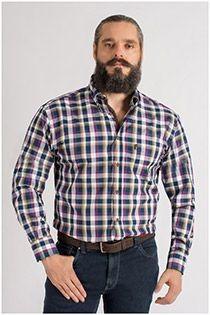 Lange mouw ruiten overhemd van Plus Man