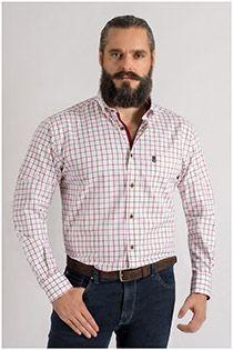 Katoenen lange mouw overhemd van Plus Man