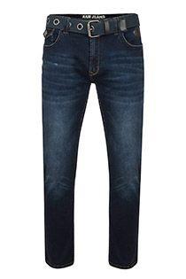 Extra lange 5-pocket elastische jeansbroek van KAM Jeanswear.