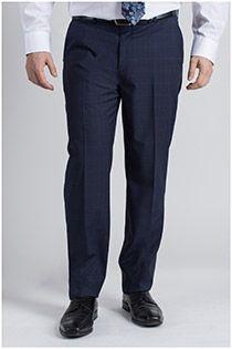Extra lange viscose broek zonder bandplooi