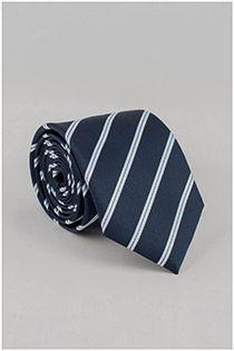 Gestreepte EXTRA LANGE stropdas van Plus Man