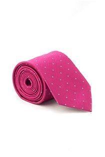 Extra lange stropdas van Plusman met stippeltjes-patroon