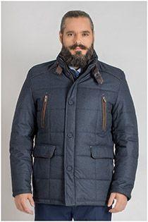 Winterjas met dubbel front van Plus Man