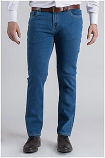 5-pocket stretchjeans van Plus Man