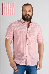Korte mouw gestreept overhemd van Plus Man