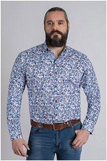 All-over bedrukt lange mouw overhemd Plus Man
