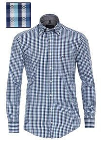 Extra lang ruiten overhemd van Casamoda