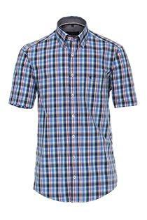 Korte mouw ruiten overhemd van Casamoda
