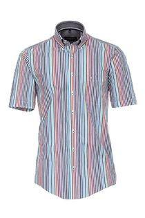 Korte mouw streepjes overhemd Casa Moda.