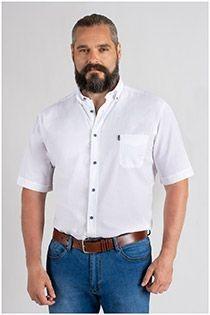 Uni korte mouw overhemd van Plus Man