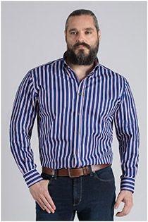 Lange mouw gestreept overhemd Plus Man