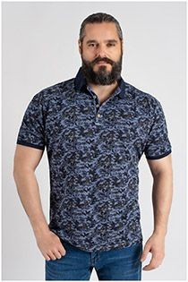 Kitaro korte mouw all-over polo