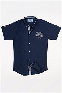 Uni korte mouw overhemd van Redfield