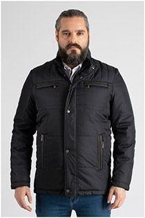 Sportieve winterjas met grote zakken van Plus Man