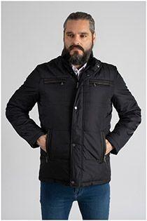 Sportieve extra lange winterjas met grote zakken van Plus Man