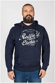 Redfield hoodie met borstprint