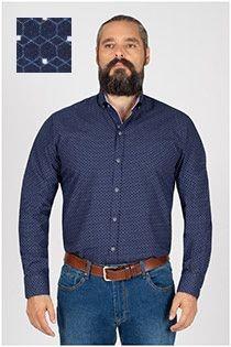 Plusman lange mouw overhemd met print