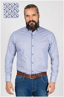Plusman bedrukt extra lang overhemd