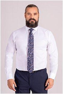 Effen dress shirt van Plusman