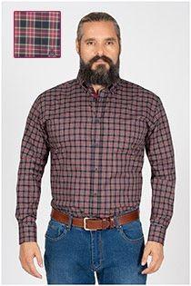 Ruiten extra lange mouw overhemd van Plusman