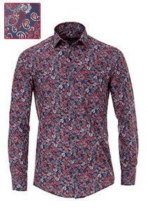 Casamoda extra lange mouw overhemd met paisley-print