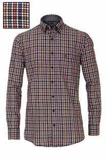 Casamoda lange mouw ruiten overhemd.