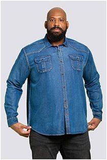 Western-style vintage jeansoverhemd lange mouw van D555