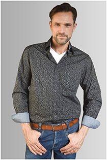 AANBIEDING: Lange mouw all-over print overhemd van GCM Originals